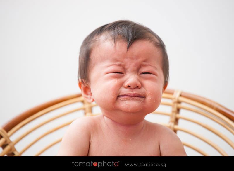 Expressive baby photoshoot