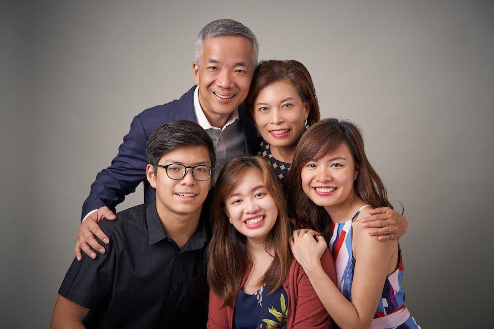 Graduation Family Studio Portrait