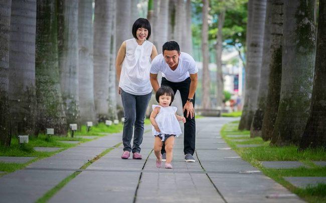 Family Photoshoot Marina Bay Promenade