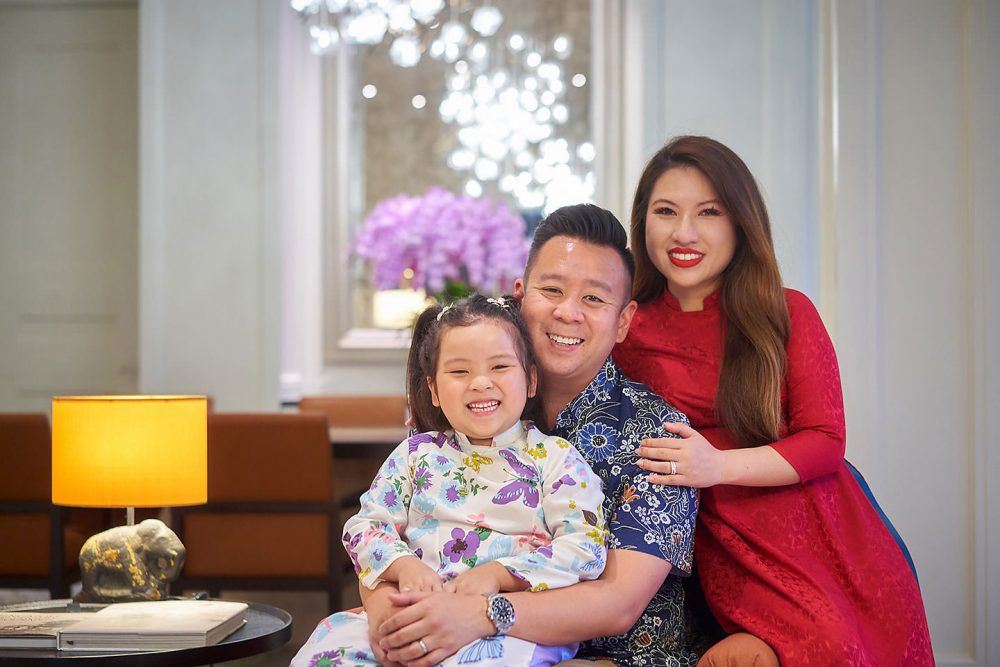 Raffles Hotel Staycation Family Photoshoot