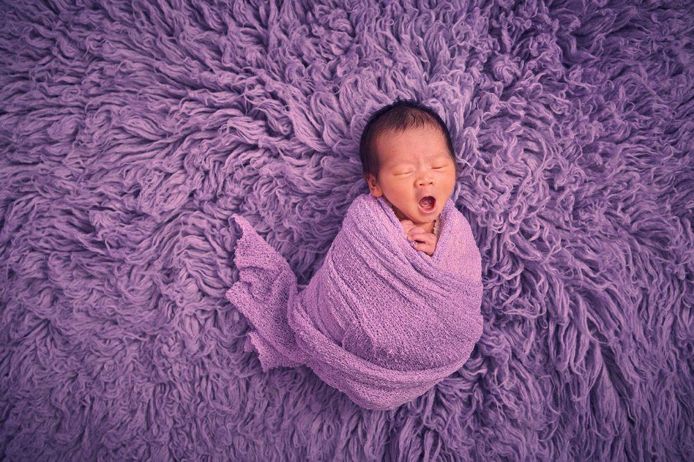 baby girl newborn studio photoshoot