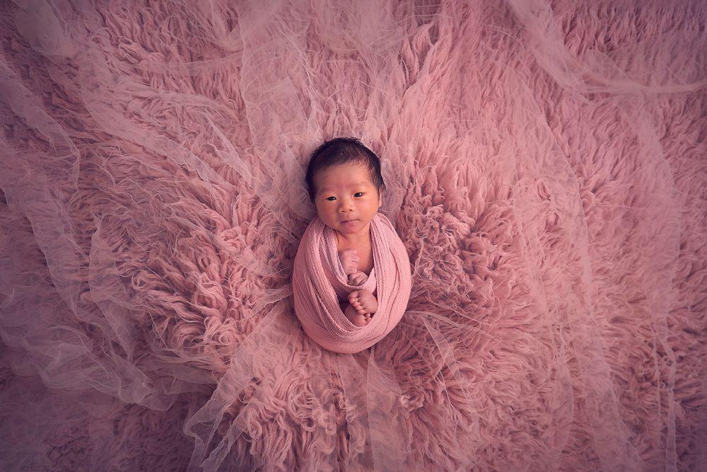 newborn baby girl studio sg