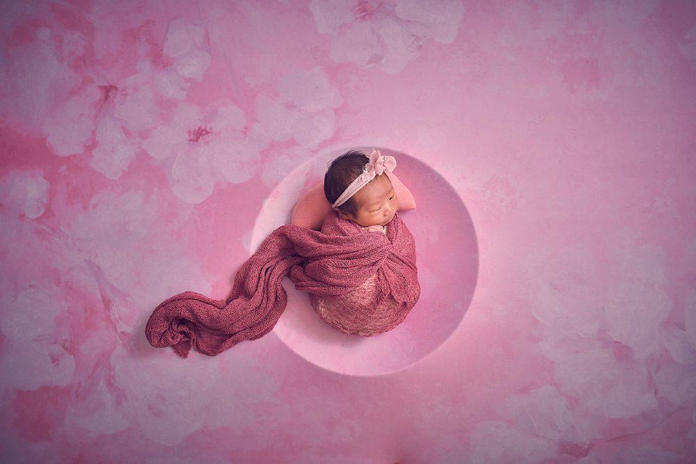sg newborn baby girl studio