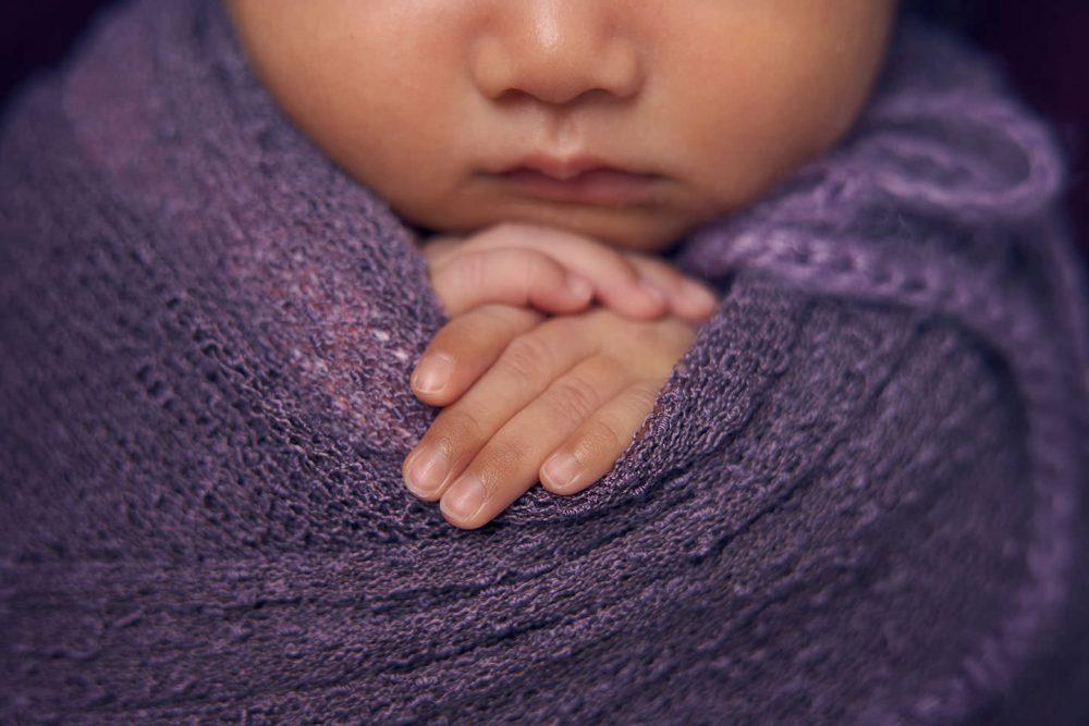 sg purple newborn photoshoot